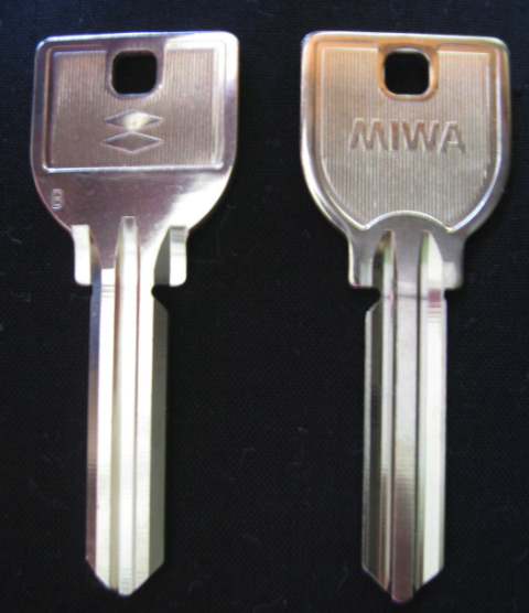 Miwa U9 Day Gate Key Blank